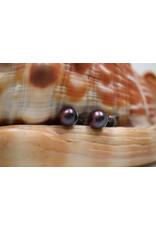 Thaity Parel oorbellen  blauw paars zilver