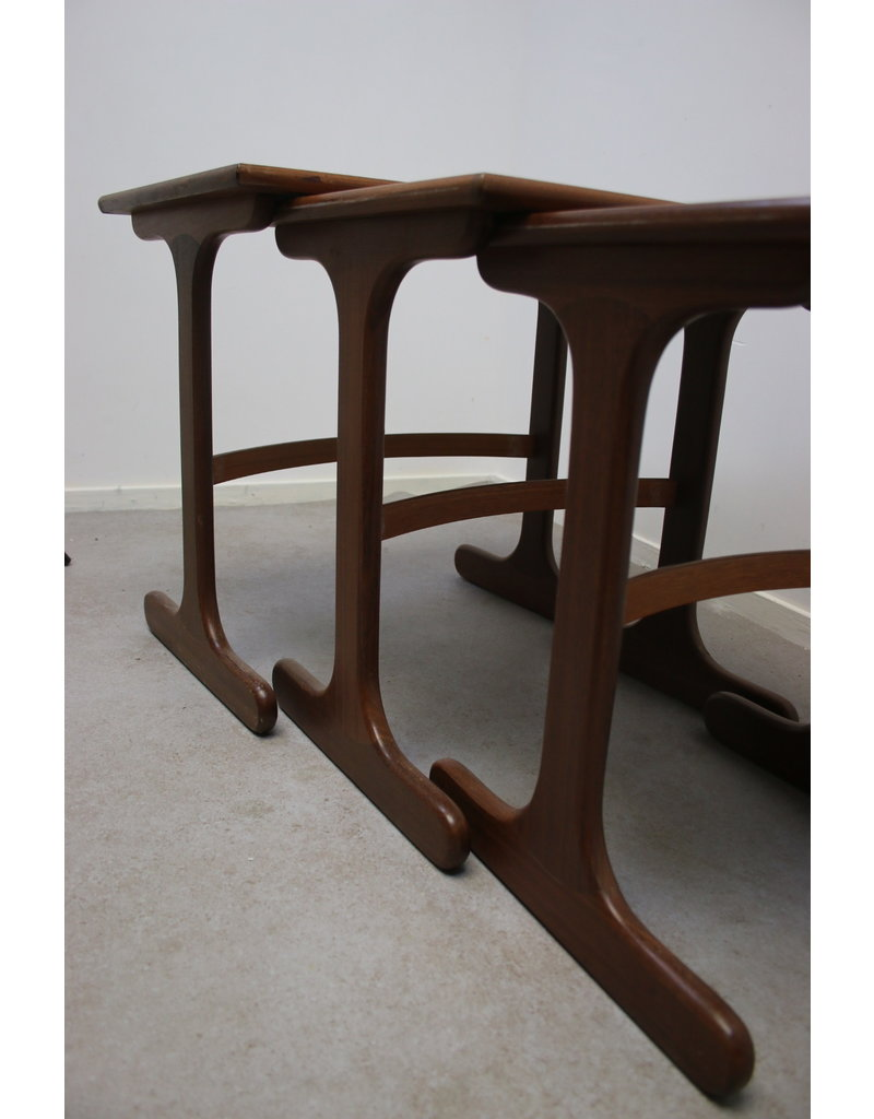 G-plan set of 3 fresco tables 1960
