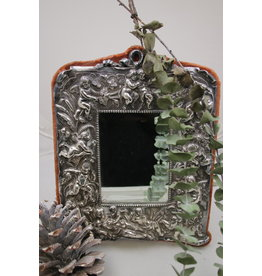 Zilveren Spiegel Met Engeltjes op de rand  Sterling Zilver