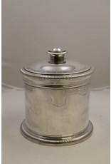 French cigarette box (automobile club nord de la france) silver-plated.