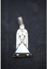 A Silver Art Deco Pendant From Theodor Fahrner,  Pendant with Hematite and marcasites