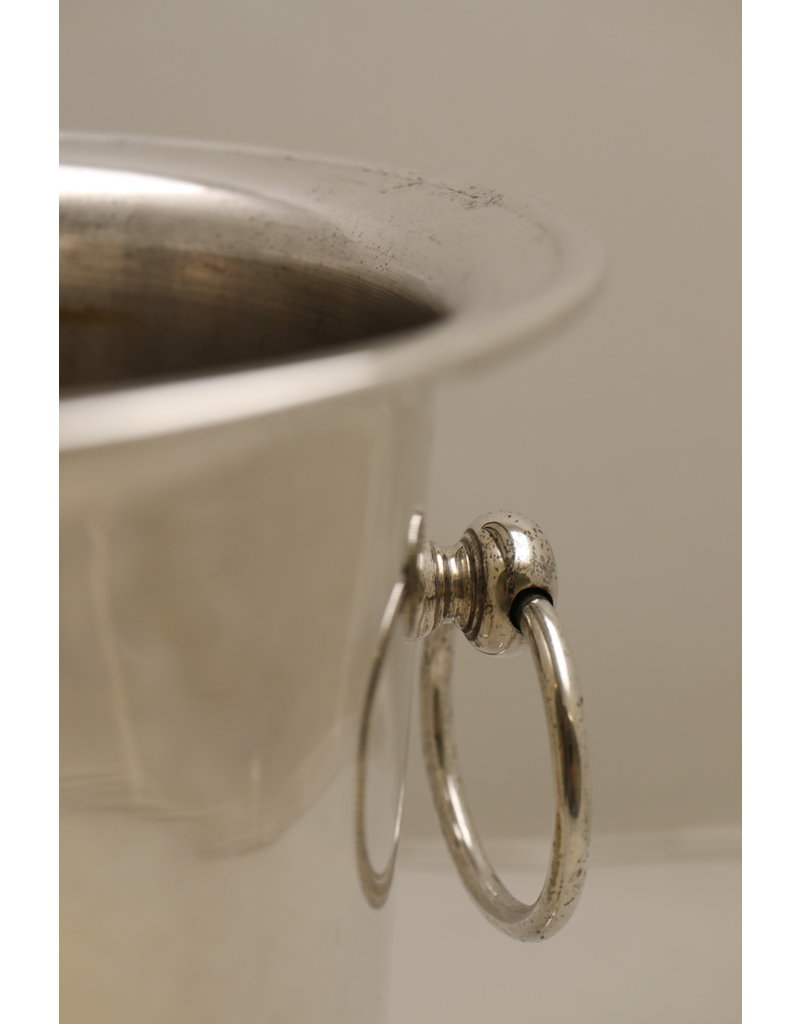 Beautiful large old heavy silver-plated champagne cooler