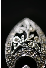 English Silver Brooches with Cutsteel Markasites