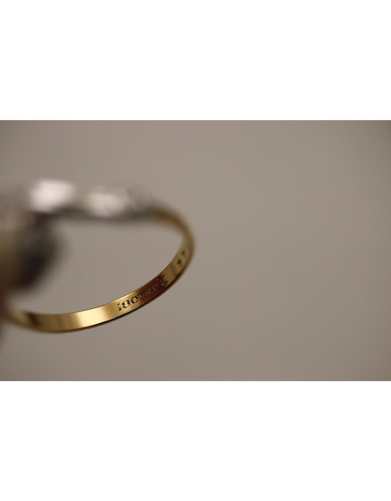 18 Kt Witgouden Ring met Platina en 0.61 CT Briljant