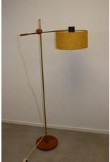 Scandinavian Design floor lamp with Teak base and hinge point