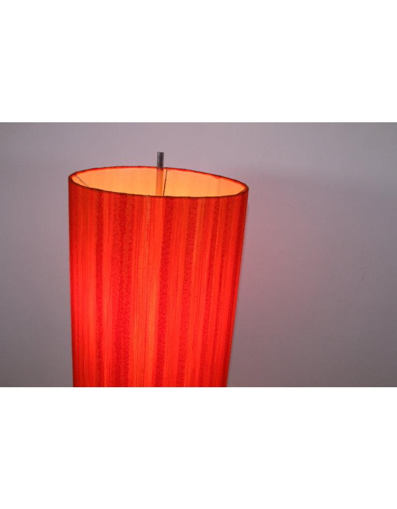 Vloerlamp met oranje/rode kap jaren60