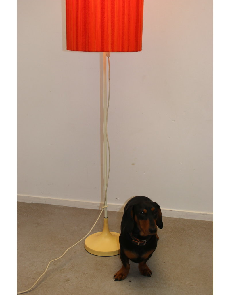 Floor lamp with orange / red shade from the 60s