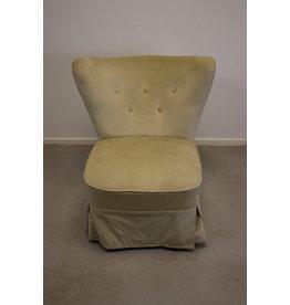 Vintage retro fauteuil creme