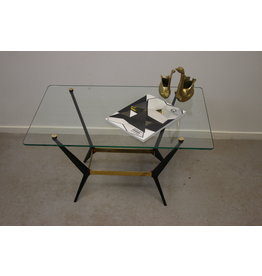 Italian side table / coffee table with metal legs