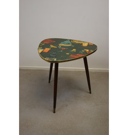 Vintage coffee table with printed sheet 60