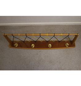 Wire coat rack 1960s wall coat rack