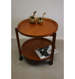 Danish Round Teak Trolley or Serving Cart Design by Sika Mobler '1960