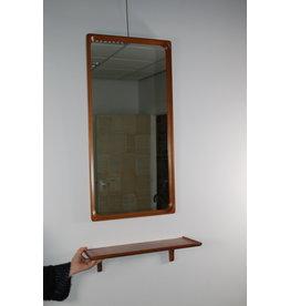 1950 Markaryd Danish Design Teak Wall mirror with schapje
