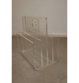 Plexiglas magazine rack