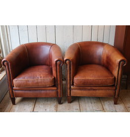 Sheep leather armchairs Dutch Cup