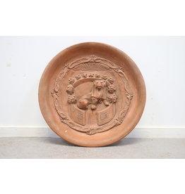 Terracotta Wall Plate 100 years Freedom 1813-1913 orange house