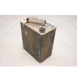 WW2 English Gasoline Jerrycan blue metal 1941