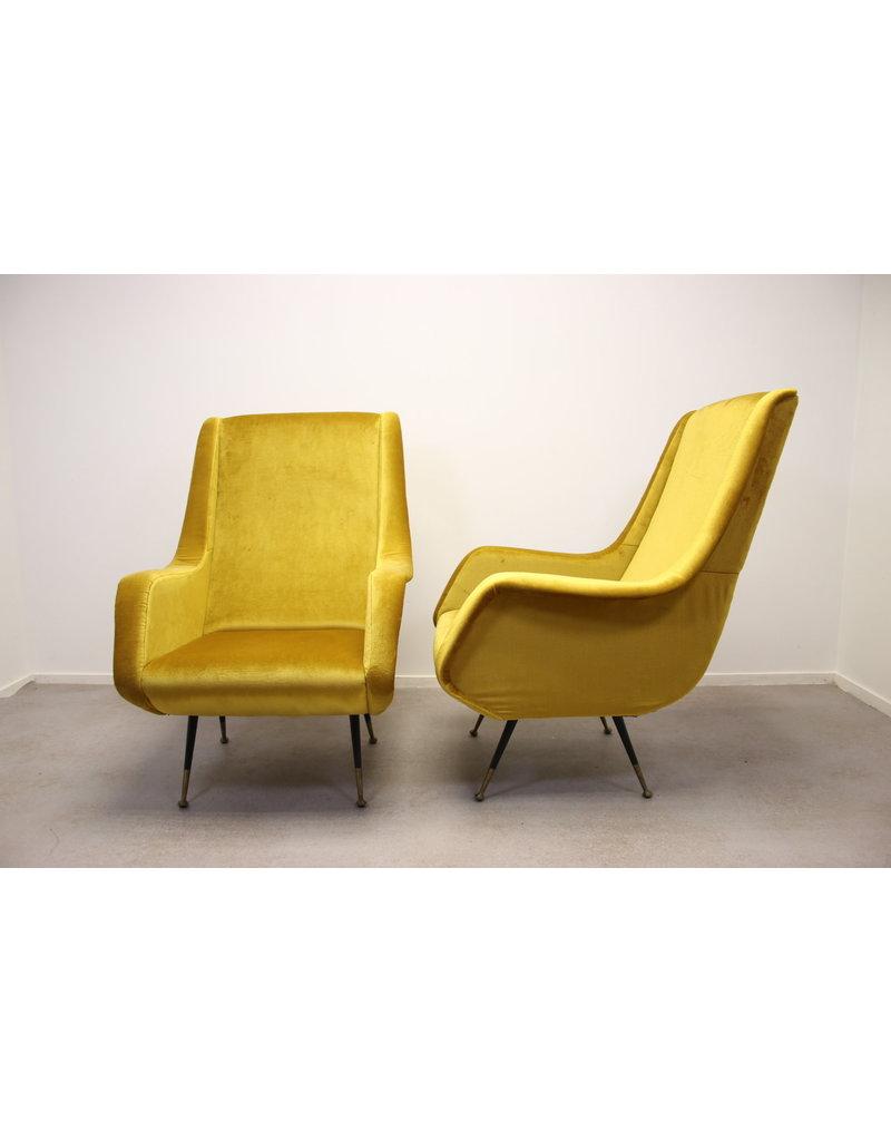 Lounge Stoel Retro.Set Of 2 Lounge Chair By Aldo Morbelli For Isa Bergamo 1950s