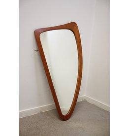 Teakhouten Spiegel in harp model of organisch