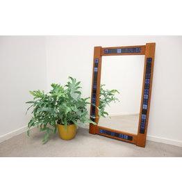 J. Holmer-Hansen Mirror teak with Blue tiles