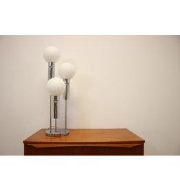 Vintage 60s Solken Leuchten chrome three-spot balls table lamp.