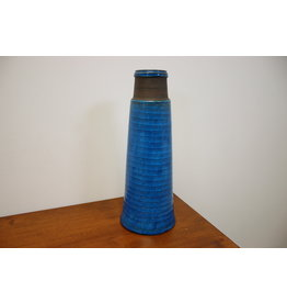 Terracota blauwe scandinavische vaas van Nils Kahler for Kahler Keramik