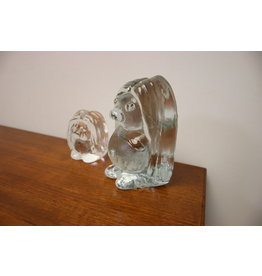 Man en Vrouw Deense Trol van Massief geperst Glas