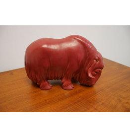 Vintage s.v lindhart keramische stier gemaakt Denemarken