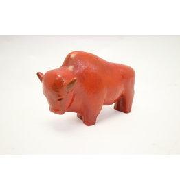 Kurt Tschörner - Ruscha stier/bull in rood keramiek jaren 60