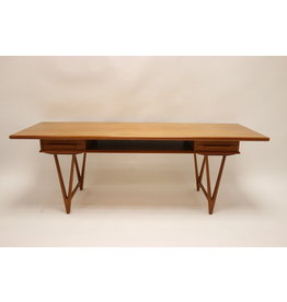Danish Teak Coffee Table with 2 drawers by EW Bach for Toften Mobelfabrik Denmark