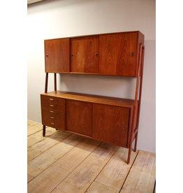 vintage teak highboard from Gunni Omman  jaren 60  Deens design