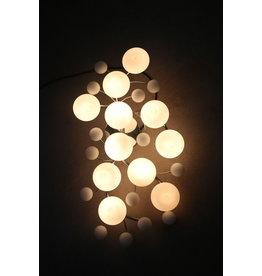 champignon plafonlamp van glas met chrome