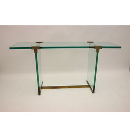 Glass Sidetable or Consult From peter Ghyczy model T 30