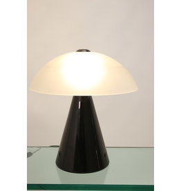 F. Fabbian Black Tablelamp of Dekslamp F. Fabbian Murano Glass White Table Lamp Mid Century
