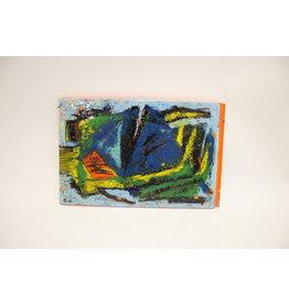 Carl B Gorell emaille / metaalglazuur kunstwerk
