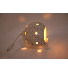 Witte Keramiek- Ronden bol wandlamp
