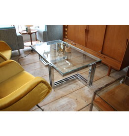 Ilse Mobell Chrome Design coffee table 60 years Space age