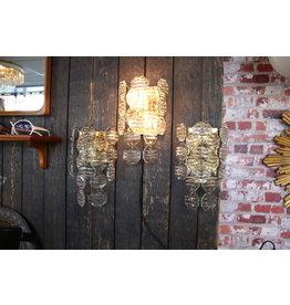J.T. Kalmer Crystal Wall Lamps Design set of 3 pieces