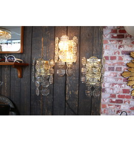 J.T.Kalmer Kristalen Wandlampen Design set van 3 stuks