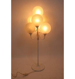 Witte vloerlamp met witte bollen 60 jaren