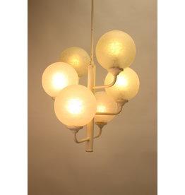 Witte Hanglamp met 6 Witte Bollen