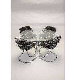 Gastone Rinaldi for Rima Italy eetkamer set met 4 stoelen