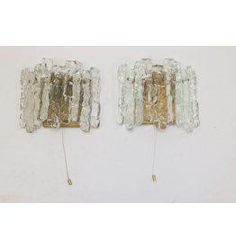 J.T. Kalmar Ijsglas Wandlampen met 2 lichtpunten
