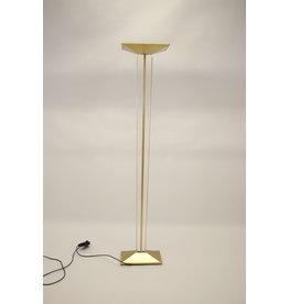 Grote Gouden Itialiaanse plexiglas Vloerlamp met dimmer