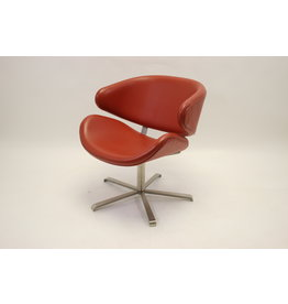 Red Leather Design Armchair