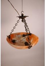 Franse Albast schaal Hanglamp