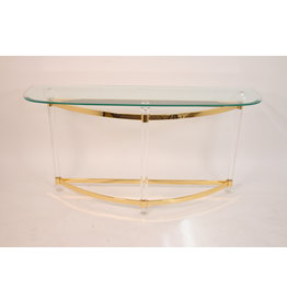 Itiaanse Plexiglas Side Table halve maan Hollywood regency