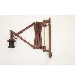 Teakhouten Harmonica wandlamp