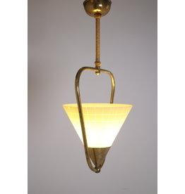 50 jaren Hanglamp met glazenkap