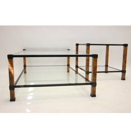 Pierre Vandel Paris Coffee table and side table Black and marble